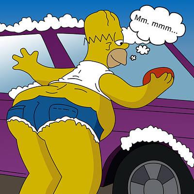 the Simpsons Print by Mark Ashkenazi