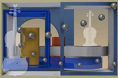 Surreal Digital Art - The Singular Song by Alberto  RuiZ