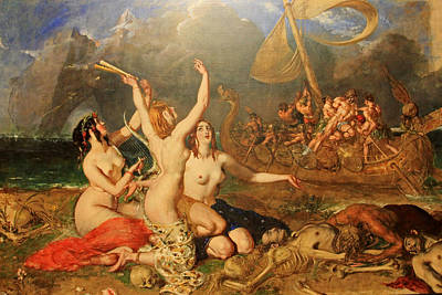 The Sirens And Ulysses Print by William Etty