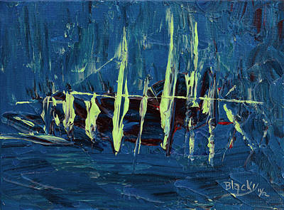 Pirate Ships Painting - The Skeleton Ship Of El Draque by Donna Blackhall