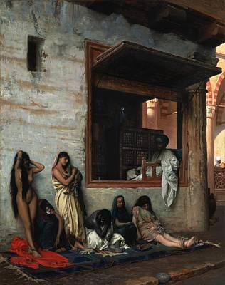 Slave Painting - The Slave Market by Jean Leon Gerome