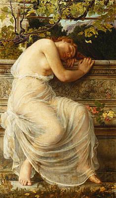 The Sleeping Girl Print by Edith Ridley Corbet