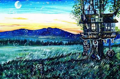 Swing Painting - The Sleepover by Shana Rowe Jackson