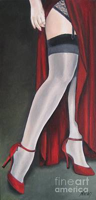 Stilettos Painting - The Slit by Jindra Noewi