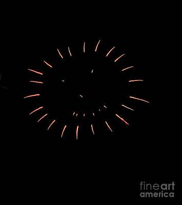 Firecracker Photograph - The Smile by Robert Bales