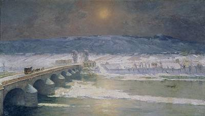 Winter Scenes Painting - The Snow In The Auvergne by Albert Charles Lebourg