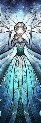 Snow Digital Art - The Snow Queen by Mandie Manzano