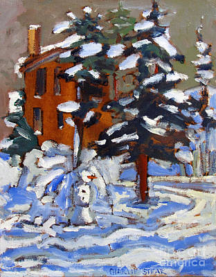 The Snow Watchman Original by Charlie Spear