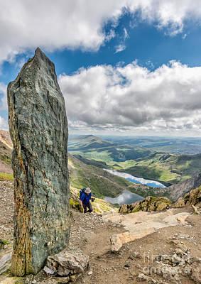 Llanberis Photograph - The Snowdon Obelisk by Adrian Evans