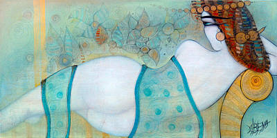 Painting - The Sofa by Albena Vatcheva