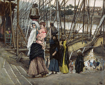 Biblical Scene Painting - The Sojourn by Tissot