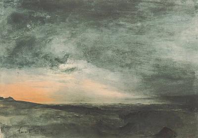 The Solar Eclipse Above Vienna Print by Rudolf von Alt