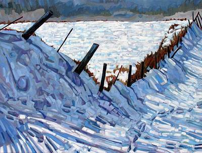 Canoeist Painting - The Son Of The Fence by Phil Chadwick