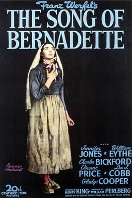 Postv Photograph - The Song Of Bernadette, Jennifer Jones by Everett
