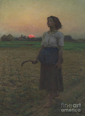 Lark Painting - The Song Of The Lark by Jules Breton