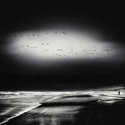 Winter Storm Photograph - The Song Of The Wet Sands by Piet Flour