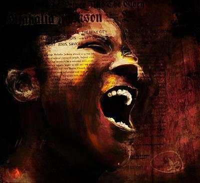 Mahalia Jackson Mixed Media - The Songbird by Howard Barry