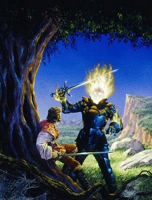 Knights Castle Painting - The Sorcerer's Son by Richard Hescox