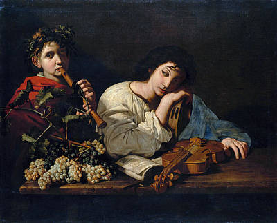 Painting - The Sorrows Of Aminta by Bartolomeo Cavarozzi