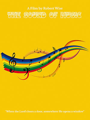 Musical Film Painting - The Sound Of Music Minimalist Movie Poster  by Celestial Images