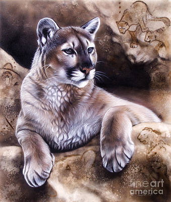 Puma Painting - The Source Iv by Sandi Baker