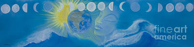 Blue Healer Painting - The Source  by Karen Feiling