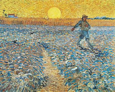 Man.farmer Painting - 		The Sower by Vincent van Gogh