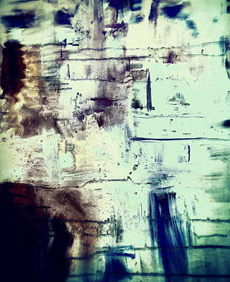 Inner Light Painting - The Spaces Between The Abstract Faces by Angela  Holladay