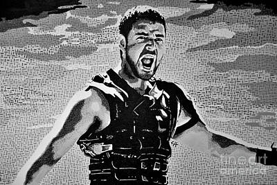 Acrylic Painting - The Spaniard. Black And White by Chris Harland
