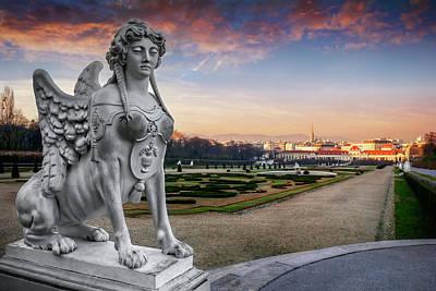 The Sphinx Of The Belvedere Vienna  Print by Carol Japp
