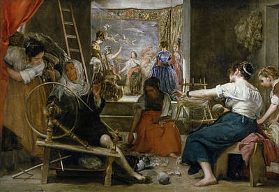 Greek Painting - The Spinners, Or The Fable Of Arachne by Diego Velazquez