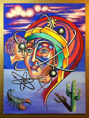The Spirit Atom / Atom And Eve  Original by Britt Kuechenmeister