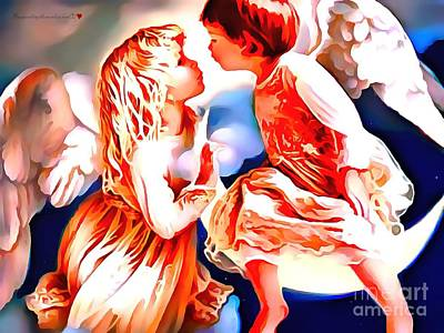 The Spirit Of A First Kiss Print by Catherine Lott