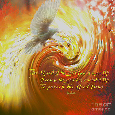 Wite Digital Art - The Spirit Of The Lord God by Beverly Guilliams