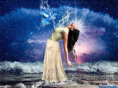 Born Again Digital Art - The Spirit Of Truth by Dolores Develde