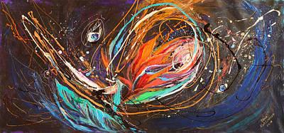 Painting - The Splash Of Life #21 Flower Of Chaos by Elena Kotliarker
