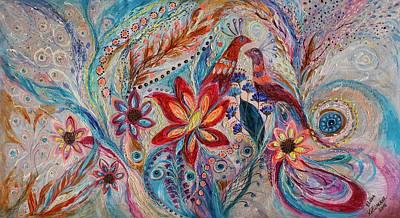 Painting - The Splash Of Life 21. The Fragility Of Light by Elena Kotliarker