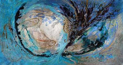Painting - The Splash Of Life 22. The Sea Horse by Elena Kotliarker