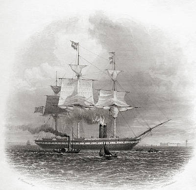 The S.s. Great Britain Leaving Print by Vintage Design Pics