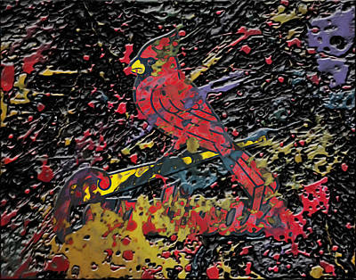 Grapefruit Mixed Media - The St Louis Cardinals Plaster  by Brian Reaves