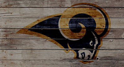 St. Louis Mixed Media - The St Louis Rams 2w by Brian Reaves