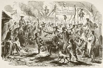 Stamps Drawing - The Stamp Act Riots In New York, 1765 by Vintage Design Pics