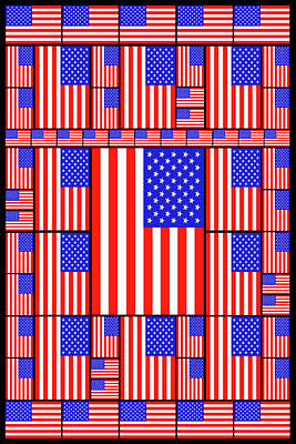 Modern Abstract Drawing - The Stars And Stripes 3 by Mike McGlothlen