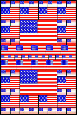 Modern Abstract Drawing - The Stars And Stripes 4 by Mike McGlothlen