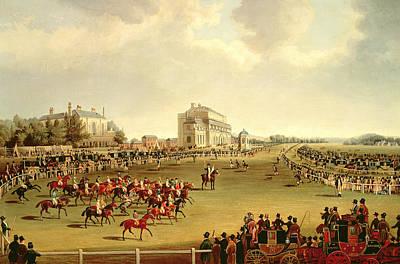Jockey Painting - The Start Of The Saint Leger by James Pollard
