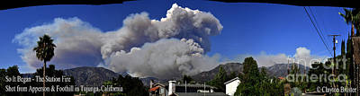 Fired Clay Photograph - The Station Fire Panoramic by Clayton Bruster