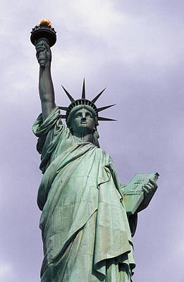 Statue Of Liberty Torch Sculpture - The Statue Of Liberty by Auguste Bartholdi