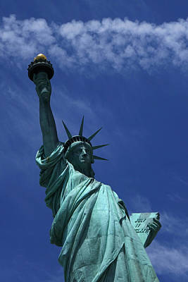 Liberty Island Digital Art - The Statue Of Liberty New York City by Toby McGuire