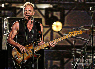Sting Mixed Media - Sting Collection by Marvin Blaine
