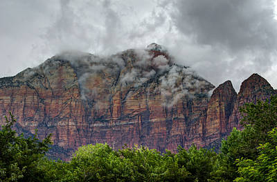 Mount Kinesava Photograph - The Storm Clears by Loree Johnson